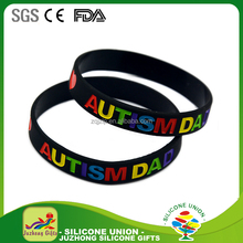 Round silicone bracelet, rubber silicone bracelets with sayings , silicone bracelet charms