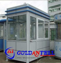 Low cost security guard house bungalow steel house & mobile sentry box & steel sentry house for car parking lot system
