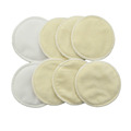 Round Shape Reusable Soft Bamboo Breast Pad Breathable and Antebacterial for Mom