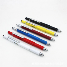 Wholesale hot sale Multi-function tool pen Screwdriver metal capacitance scale touch screen ballpoint pen.
