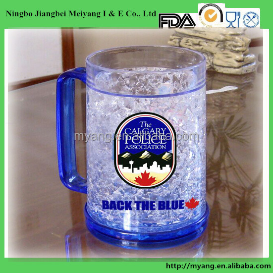 Bpa Free 16oz PS Bpa Free beer mug ice gel, beer mug freezer,beer mug frosted freezer
