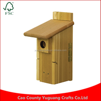 Custom Manufacture Wholesale Valley Ultimate Nest Box Mounted Wooden Birdhouse Cages