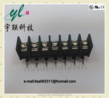 7.62 mm barrier terminal strips electric 2/3/4/5/6/7/8/9/10/11/12 pin pcb speaker terminal block connector