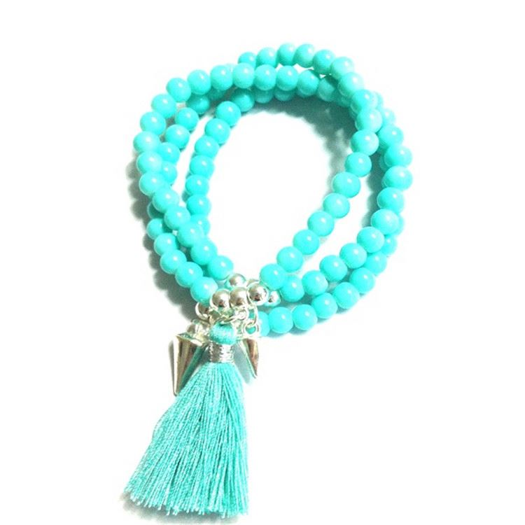 Modern style good quality alloy pendant tassel bracelet in many style