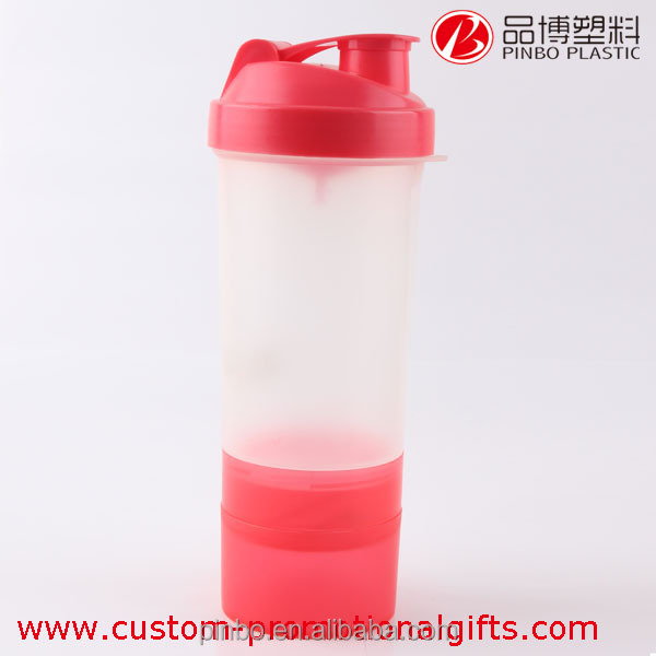 Outdoor Sports Multi-Purpose Plastic Sports Bottle with Straw , 600ml Shaker Water Bottle with filter