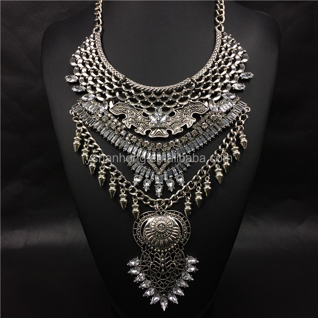 alibaba express chinese imports wholesale imitation silver chain statement necklace jewelry accessories jewellry for women