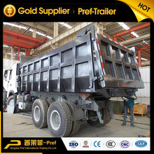2 axles rear dump semi trailer /tipper truck trailer for sand transportation