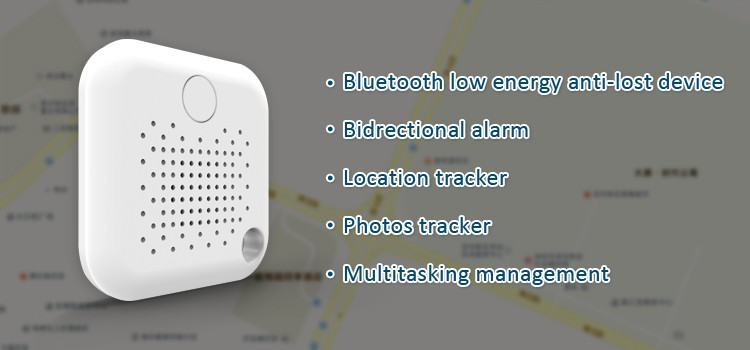 portable smart bluetooth anti-lost alarm bluetooth key finder&pets finder alarm with selfie shutter