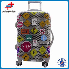 HOT SALE CHEAP PS LUGGAGE 3 PCS PER SET TRAFFIC LOGO DESIGN