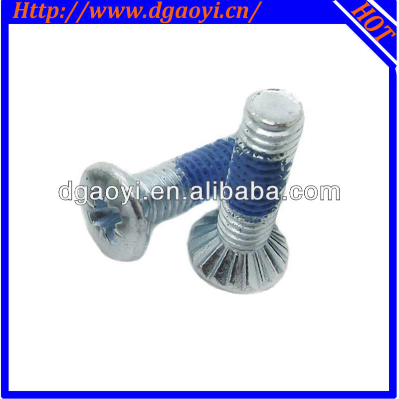 Dongguan hardware flat head anti-loose machine screw