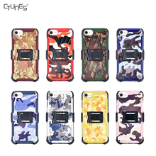 Camouflage Combo Slim Hard Shell Layer Holster Kickstand Locking Belt Swivel Clip Case For iPhone 8 Plus