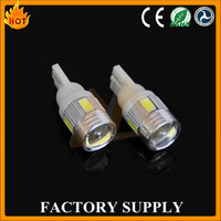 Super Bright T10 W5W 6SMD 5630 LED Light Bulb Lamp with Lens Tail Lights for Car Accessories and Auto Parts