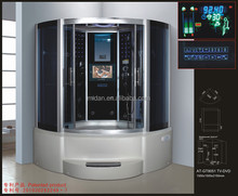 Multi-functional Large LCD Screen Steam Shower Cabin With Massage Bathtub