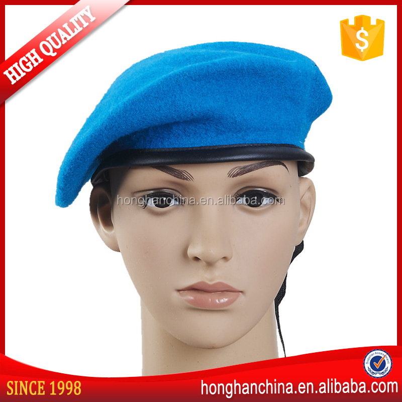 Fashion promotion blue wool army beret