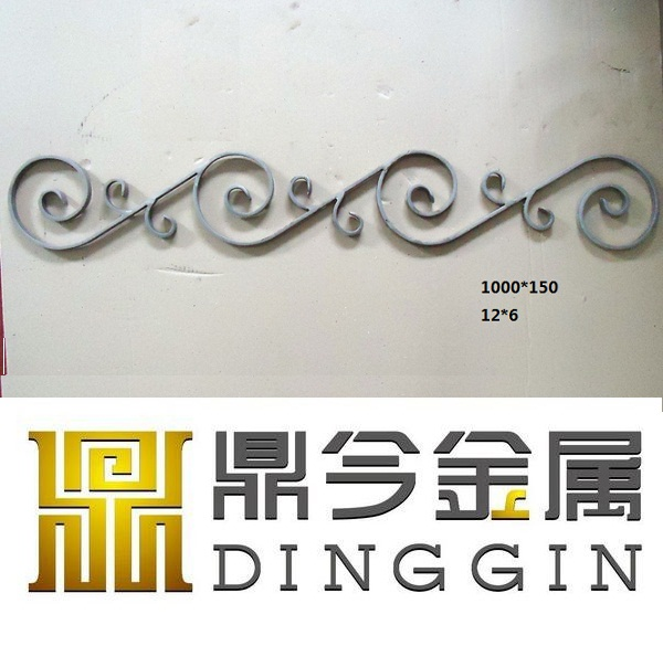 Wrought iron decoration for new design iron gate