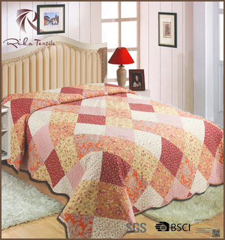 Good washable bedspreads, hot sale product diamond bedspread