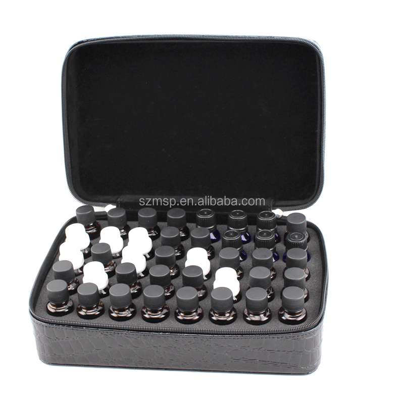 PU crocodile patterns 40 vials essential oils case from China direct manufacturer