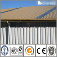 Steel Galvanized Prefabricated Warehouse with Sandwiched Panel Wall