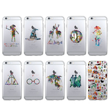 TOMOCOMO Harry Potter Watercolor Movie Soft Phone Case Cover Coque Fundas For iPhone 5 5S SE 6 6S 6Plus 7 7Plus 8 8Plus X SAMSUN