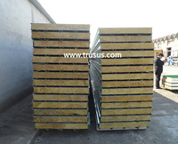 Fast And Esay Construction Fireproof Lightweight Rock Wool Sandwich Panels Type Rockwool Insulation Panel
