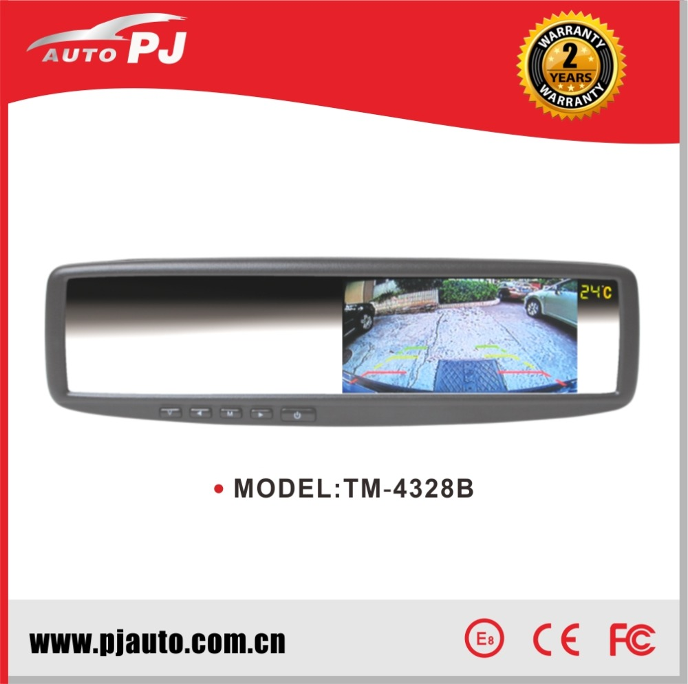"4.3"" OEM Replacement Car Rearview Digital LCD Mirror Monitor, Changeable Bracket for Suzuki Sx4 Hatchback (TM-4328B#5)"