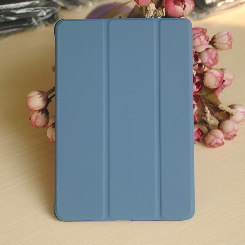 Navy blue Smart sleep case for ipad mini Air 5 6 Pro flip stand leather case with Back cover