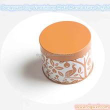 Round decorated unleakable candle wax tin can
