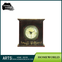 Wholesale Roman Numerals Personalized Vintage Desk Wooden Table Clock