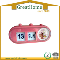 Automatic Day Date Calendar Flip Desk Clock Cute Flip Clock