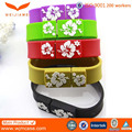 Promotional adjustable silicone usb wristband for promotion gift
