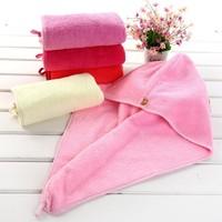 Microfiber Magic Drying Turban Wrap Towel/hat/cap Hair Dry Quick Dryer Bath Salon Towels Cap