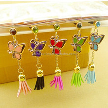 New products mobile phone accessories beautiful butterfly design anti dust plug for girls