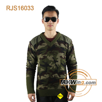 Woodland Camouflage Akwing Classic Military Army Sweater Wool/Acrylic Pullover RJS16033