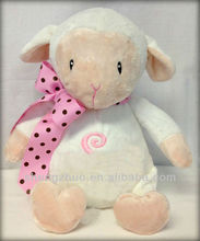 Personalized Lamb Stuffed Animal, Plush Soft Toy