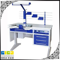 GIGA heavy duty wooden dental lab electrical working bench