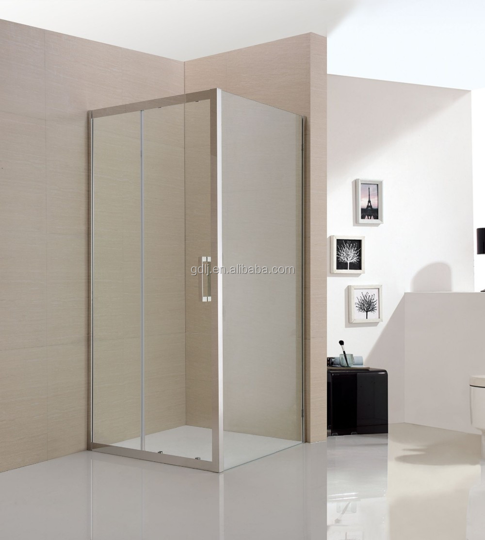 none tray or steam steel frame tempered glass square sliding shower cabin enclosed european design