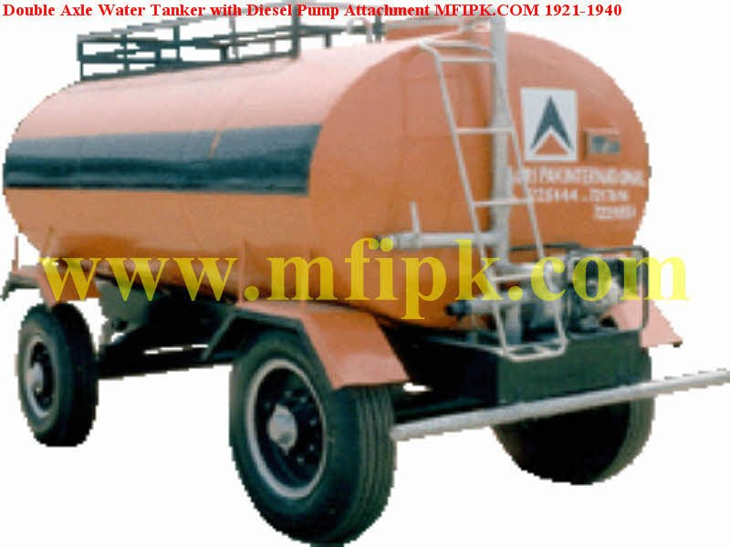 Diesel Pump Attachment with Double Axle Water Tank