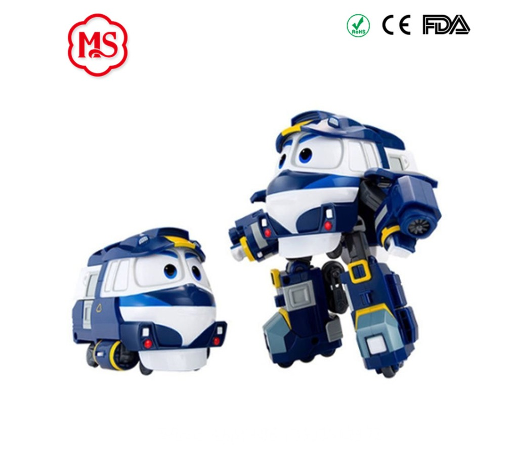 2017 South Korea dynamic train family trains robot dynamic train suit toy for children gift