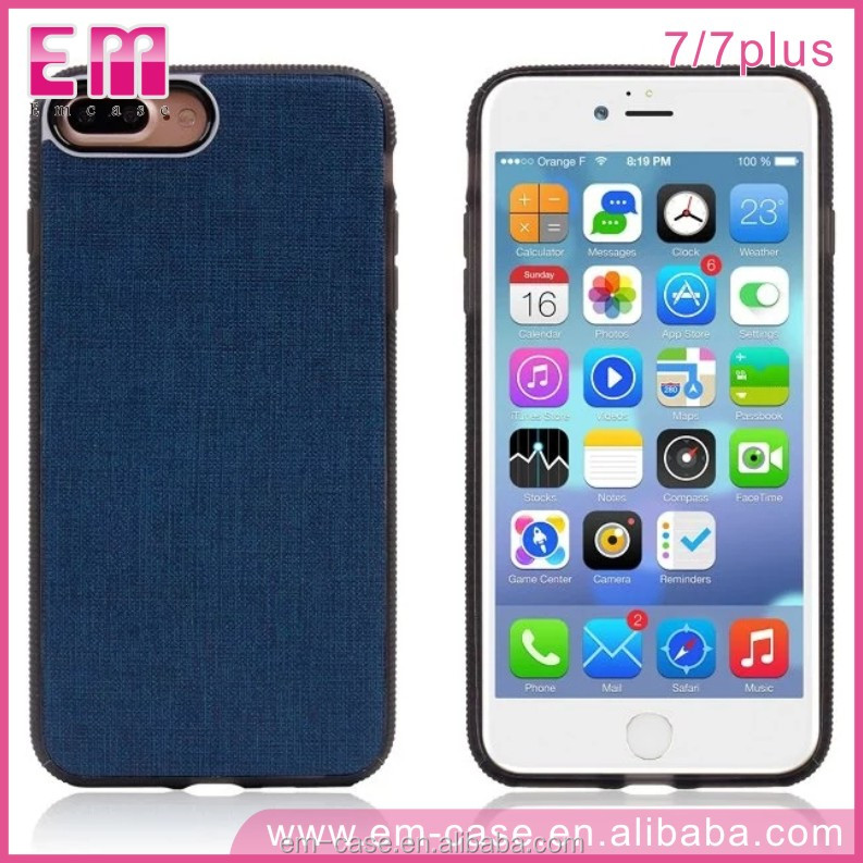 Hot Denim Phone Case Jeans leather Cover for iPhone 7 / for iPhone 7 Magnetic Phone Case for iPhone 7 7Plus