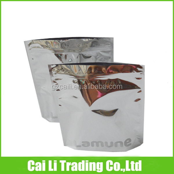 food grade 3 layers laminated stand up msds aluminium foil bag