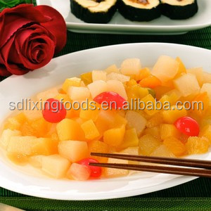 Several fresh fruits, canned fruits get together