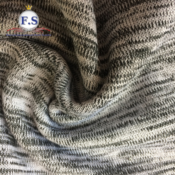 97/3 super poly spandex loose weave knit fabric for sweater