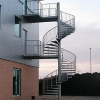 modern standard staircase narrow spiral staircase with handrails