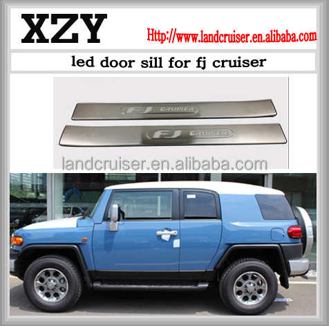 led door sill FOR FJ cruiser 2007~2014 welcom pedal with lamp