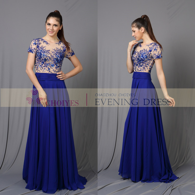Ladies Formal Royal Blue African Wedding Dresses For Women