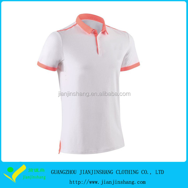 OEM Compression Fitted Men's 88% polyester 12% Spandex Golf T Shirt