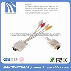 GOOD QUALITY VGA TO RCA CABLE MALE TO FEMALE SHOUR CBALE