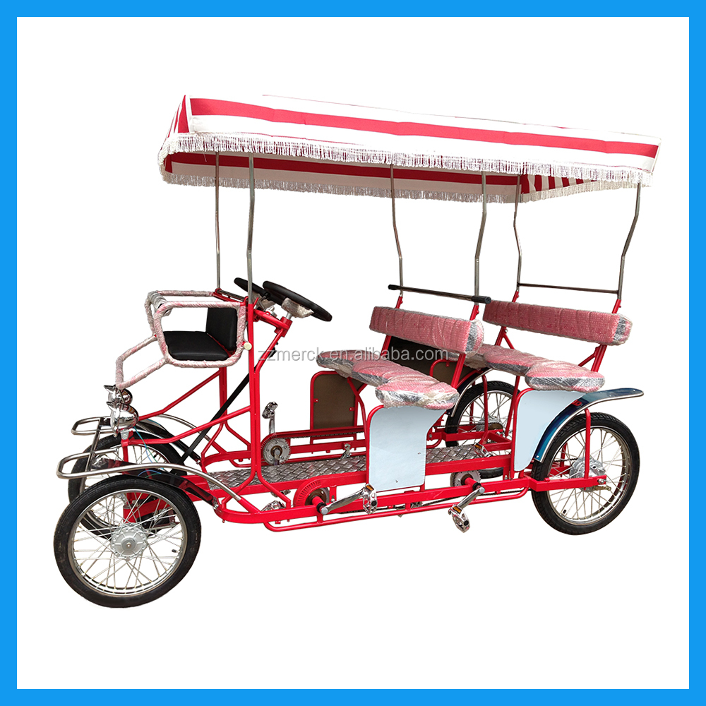 4 Wheelers 4 People Pedal Rickshaw Bike