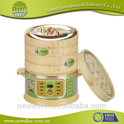 2014 Eco-friendly bamboo food steamers folding steamers aluminium cookware set