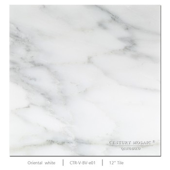 Polished Oriental White subway tile Marble floor tile for decoration use